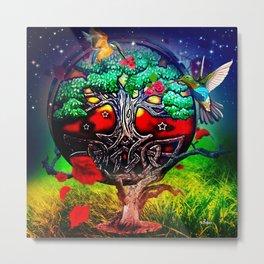 Tree of life hummingbirds  Metal Print