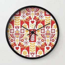 Swedish Folk Art_Mid-Century Modern Wall Clock