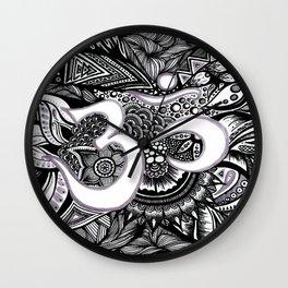 Zentangle Ohm Wall Clock