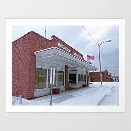 City Hall - Ironton, Missouri Art Print