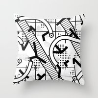 8 bit Throw Pillows featuring 8 bit by Bomburo