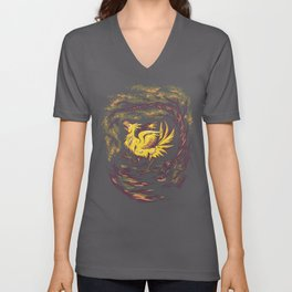 Chocobo with Blossoms Unisex V-Neck