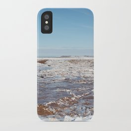 Snow on the Bay of Fundy iPhone Case