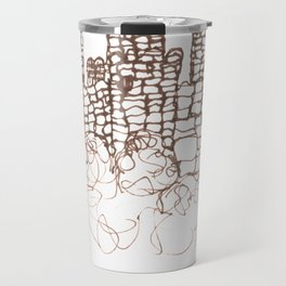 Town Walls  Loose Sketch Travel Mug
