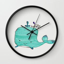 Whale you be my Valentine? Wall Clock