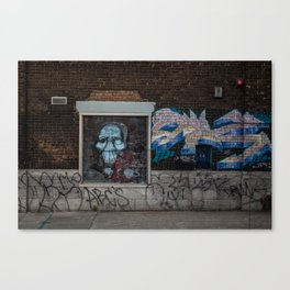 Spooky Street art Canvas Print