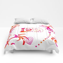 Loved. Loving, Lovable in Feng Shui Colours 2019 Comforters