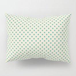 the green dot on light beige Pillow Sham