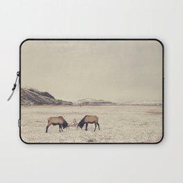 Sparring Elk in Wyoming - Wildlife Photography Laptop Sleeve