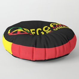 Reggae Peace And Love, Positive Vibes Floor Pillow