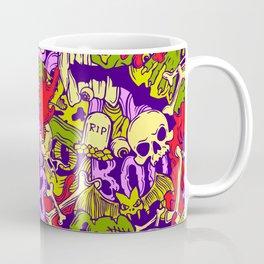 Halloween zombie multcoor pattern Coffee Mug