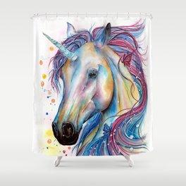 Whimsical Unicorn Shower Curtain