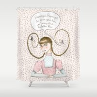 rapunzel Shower Curtains featuring Rapunzel by Marta Li