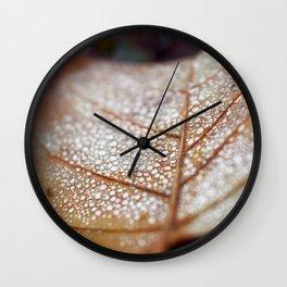 Yellow Leaf Wall Clock