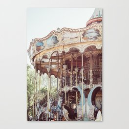 Paris Carousel Canvas Print