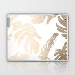 Simply Tropical Palm Leaves in White Gold Sands Laptop & iPad Skin