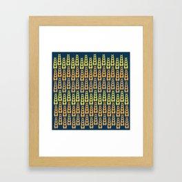 Yellow Corn Pattern Framed Art Print