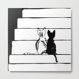 Two curious kittens Metal Print