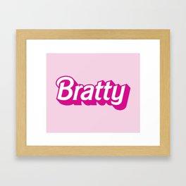 Bratty Framed Art Print