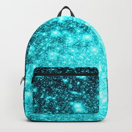 Turquoise Ombre Stars Backpack