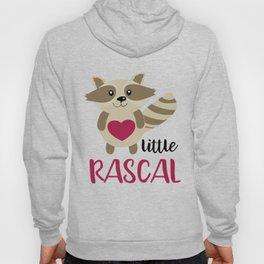 Little Rascal Raccoon Kids Cute Forest Animal Hoody