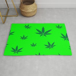 Cannabis Leaves Background Rug