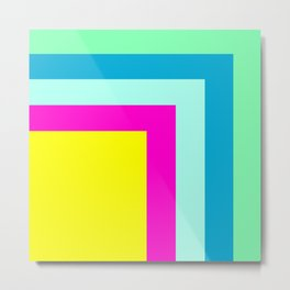 90's colour palette pattern design Metal Print
