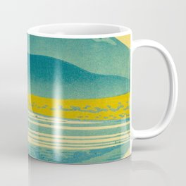 Japanese Woodblock Print Vintage Asian Art Colorful woodblock prints Asano Takeji Lake Shojin Coffee Mug
