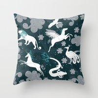 constellation Throw Pillows featuring  Constellation  by Liluna
