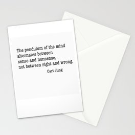 Carl Jung Pendulum Stationery Cards