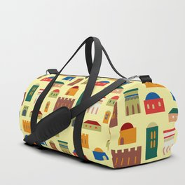 Jerusalem village-city pattern Duffle Bag