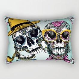sugar skull familly Rectangular Pillow