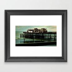 Hastings Pier Framed Art Print