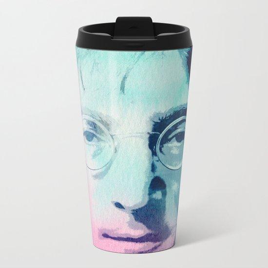 John Lennon Metal Travel Mug
