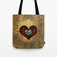 hearts Tote Bags featuring Hearts by nicky2342