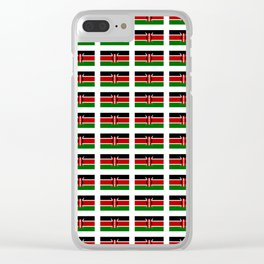 Flag of Kenya -kenyan,kenia,rift valley,serengeti,kilimanjaro,nairobi,mombasa Clear iPhone Case