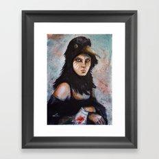 Raven girl Framed Art Print