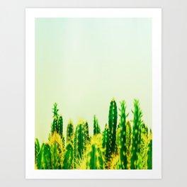 Dreamy Cacti Art Print