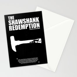 The Shawshank Redemption - A Minimal Movie Poster. A Film by Frank Darabont. Stationery Cards