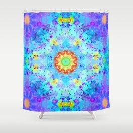 Blue Star Hippie Mandala Pattern Shower Curtain