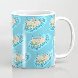 Frenchie sliding through his day Coffee Mug