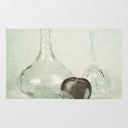 Glass still life Rug