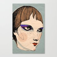 make up Canvas Prints featuring make up by Le Butthead