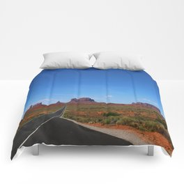 Traveling On Highway 163 Comforters
