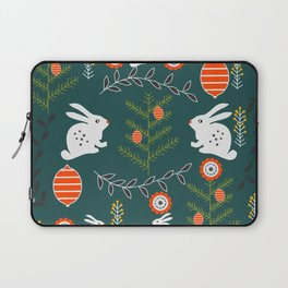 Winter holidays with bunnies Laptop Sleeve