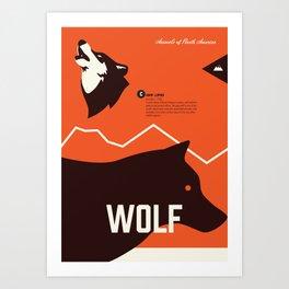 Wildlife of North America: Wolf Art Print