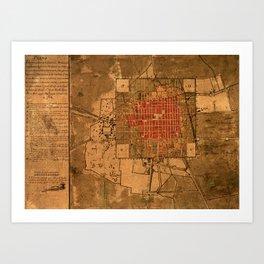 Mexico Map 1794.Mexico Map Art Prints Society6