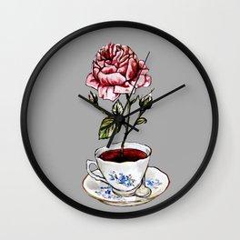Rose Tea Wall Clock