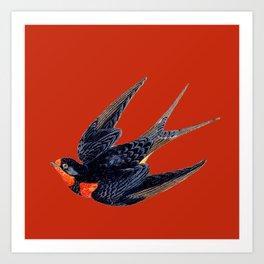 LUCKY SPARROW Art Print