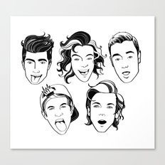 One Direction (in black and white) Canvas Print
